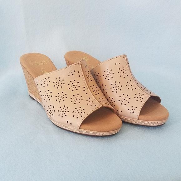 741d45d989c Clarks Shoes - Clarks helio corridor nude wedge